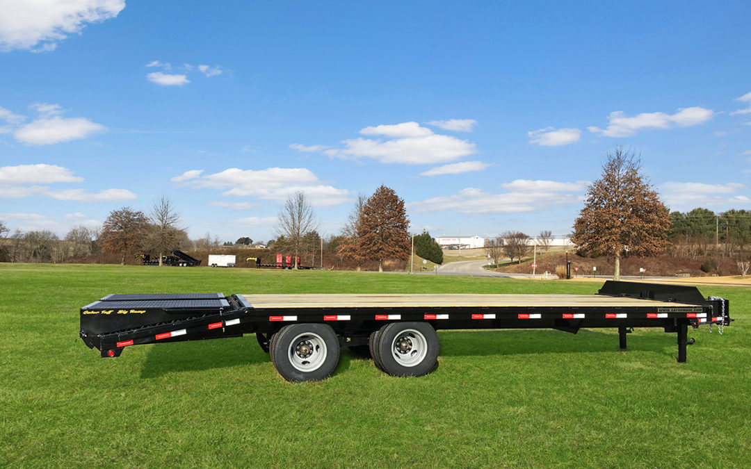 Pintle Hitch Equipment Trailer 22k GVWR (Wide Ramps)